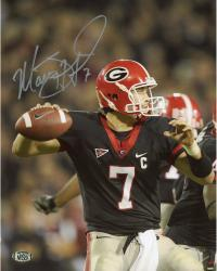 Matt Stafford Georgia Bulldogs Autographed 8'' x 10'' Close Up Throw Silver Ink Photograph