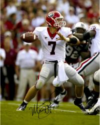 Matt Stafford Georgia Bulldogs Autographed 16'' x 20'' White Jersey Throw Photograph