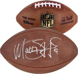 Matthew Stafford Autographed Football - Matthew Stafford Detroit Lions Duke Mounted Memories
