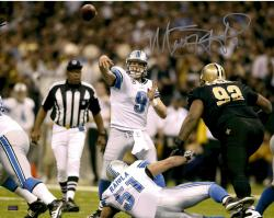 Matt Stafford Detroit Lions Autographed 16'' x 20'' After Throw Photograph