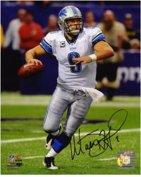 "Matthew Stafford Detroit Lions Autographed 8"" x 10"" Ball In Hand Photograph -"