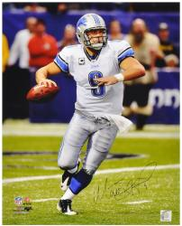 Matthew Stafford Detroit Lions Autographed 16'' x 20'' Ball In Hand Photograph - Mounted Memories