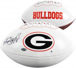 Matthew Stafford Georgia Bulldogs Autographed White Panel Football - Mounted Memories