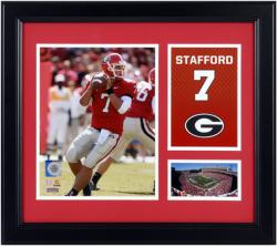 "Matthew Stafford Georgia Bulldogs Campus Legend 15"" x 17"" Framed Collage  - Mounted Memories"