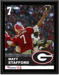 Matt Stafford Georgia Bulldogs Sublimated 10.5'' x 13'' Plaque - Mounted Memories