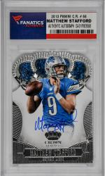Matthew Stafford Detroit Lions Autographed 2013 Panini Crown Royale #66 Card - Mounted Memories