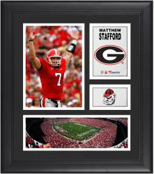 Matthew Stafford Georgia Bulldogs Framed 15'' x 17'' Collage - Mounted Memories