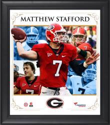MATTHEW STAFFORD FRAMED (GEORGIA) CORE COMPOSITE - Mounted Memories