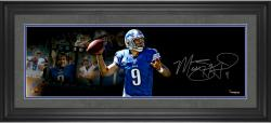 Matthew Stafford Detroit Lions Framed Autographed 10'' x 30'' Film Strip Photograph-#2-8 of Limited Edition of 9
