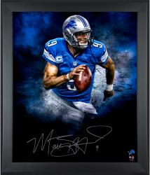 Matthew Stafford Detroit Lions Framed Autographed 20'' x 24'' In Focus Photograph-#2-8 of Limited Edition of 9