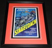 Stagecoach Framed 11x14 Poster Display Official Repro John Wayne Claire Trevor