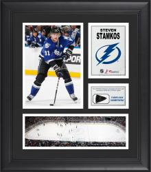 Steven Stamkos Tampa Bay Lightning Framed 15'' x 17'' Collage with Game-Used Puck-Limited Edition of 500 - Mounted Memories