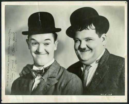 Stan Laurel Oliver Hardy Signed Autographed 8x10 Photograph Beckett BAS