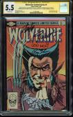 Stan Lee +6 Signed Wolverine Limited Series #1 Comic CGC Slabbed & Graded 5.5