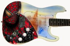 Stan Lee Airbrushed Spider-Man Signed Guitar UACC RD COA