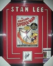 Stan Lee Amazing Amazing Spiderman Jsa Coa Signed Auto Double Matted & Framed B