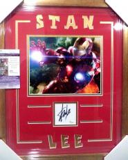 Stan Lee Amazing Iron Man Signed Autograph Double Matted & Framed 8x10 Jsa Coa