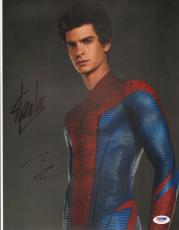 Stan Lee & Andrew Garfield Signed The Amazing Spider-Man 11x14 Photo PSA/DNA COA