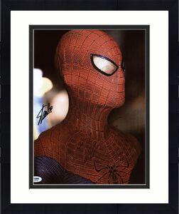 Stan Lee & Andrew Garfield Spider-Man Signed 11X14 Photo PSA #S85961