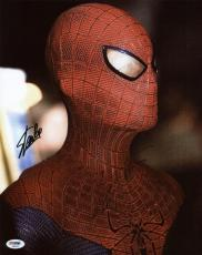 Stan Lee & Andrew Garfield Spider-Man Signed 11X14 Photo PSA #S85961