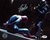 Stan Lee & Andrew Garfield Spider-Man Signed 8X10 Photo PSA #W24896