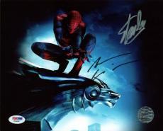 Stan Lee & Andrew Garfield Spider-Man Signed 8X10 Photo PSA #W24897