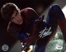 Stan Lee & Andrew Garfield Spider-Man Signed 8X10 Photo PSA #W24900