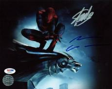 Stan Lee & Andrew Garfield Spider-Man Signed 8X10 Photo PSA #W25891
