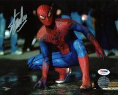 Stan Lee & Andrew Garfield Spider-Man Signed 8X10 Photo PSA #W25892