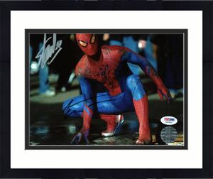 Stan Lee & Andrew Garfield Spider-Man Signed 8X10 Photo PSA #W25892