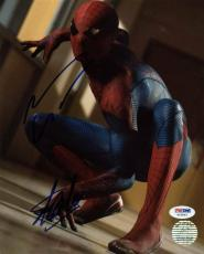 Stan Lee & Andrew Garfield Spider-Man Signed 8X10 Photo PSA #W25893