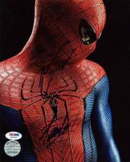 Stan Lee & Andrew Garfield Spider-Man Signed 8X10 Photo PSA #W25895