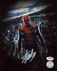 Stan Lee & Andrew Garfield Spider-Man Signed 8X10 Photo PSA #W25897
