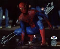 Stan Lee & Andrew Garfield Spider-Man Signed 8X10 Photo PSA #W80519