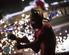 Stan Lee & Andrew Garfield Spider-Man Signed 8X10 Photo PSA #W80520