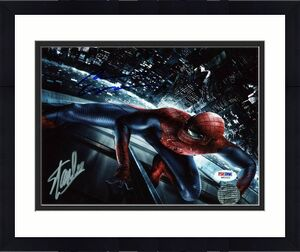 Stan Lee & Andrew Garfield Spider-Man Signed 8X10 Photo PSA #W80523