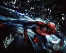 Stan Lee & Andrew Garfield Spider-Man Signed 8X10 Photo PSA #W80523