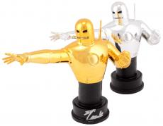 Stan Lee Auotgraphed Classic Iron Man 2 Statue Set with Silver Ink - Stan Lee Hologram