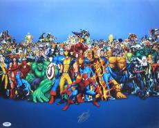 Stan Lee Authentic Signed 16x20 Marvel Comics Photo Psa/dna X14083