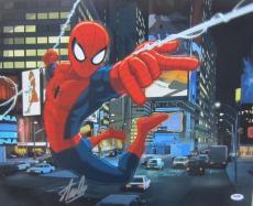 Stan Lee Authentic Signed 16x20 Spider-man Marvel Comics Photo Psa/dna X14137