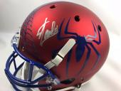 STAN LEE Authentic Signed Autograph Rep Full Size Spiderman Helmet JSA COA