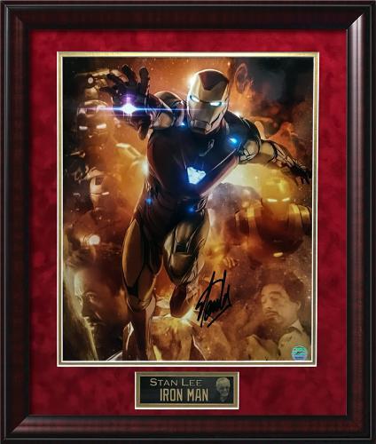 Stan Lee Autograph Photo Iron Man Repulsor Flying Framed 20×24