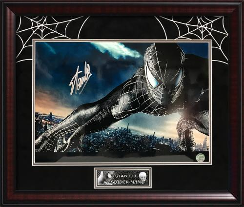 Stan Lee Autograph Print Spiderman Framed 20×24