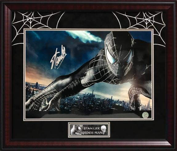 Stan Lee Autograph Print Spiderman Framed 20×24