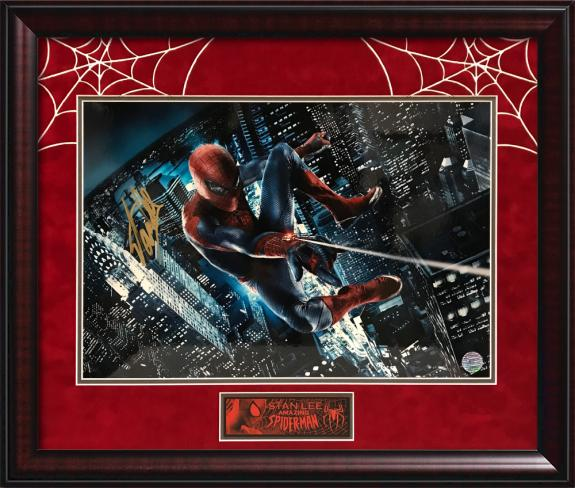 Stan Lee Autograph Print Spiderman Framed 23×26