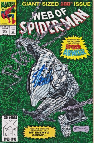 Stan Lee Autographed 100th Issue Web of Spider Man Comic Book JSA WP500765