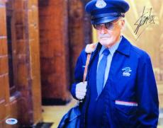 Stan Lee Autographed 11X14 Photo Fantastic Four Willie Lumpkin PSA AA21950