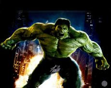"""Stan Lee Autographed 16"""" x 20"""" Hulk Movie Pose Photograph with Silver Ink - BAS COA"""