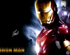 """Stan Lee Autographed 16"""" x 20"""" Iron Man Horizontal Photograph with Silver Ink - Stan Lee Hologram"""