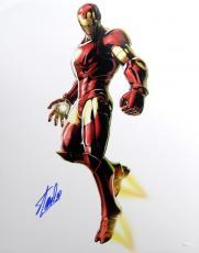 Stan Lee Autographed 16x20 Iron Man Photo- JSA W Authenticated